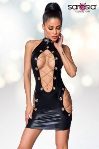 Wetlook-Minikleid 18249