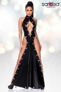 Wetlook-Maxikleid 18251